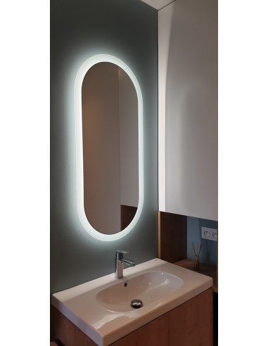 Lustro łazienkowe ROMI LED piaskowane